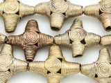Ornate Cross Brass Beads 24-26mm - Ghana (ME272)