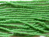 Green Glass Seed Beads - Ghana 1mm (AT148)
