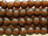 Brown Recycled Glass Beads 13-14mm - Africa (RG462)