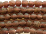 Plum Purple Recycled Glass Beads 10mm - Africa (RG466)