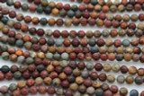 Red Creek Jasper Round Gemstone Beads 6mm (GS2341)
