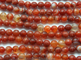 Carnelian Agate Faceted Round Gemstone Beads 10mm (GS2408)