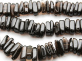 Smoky Quartz Tabular Stick Gemstone Beads 18-20mm (GS2412)