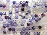 Purple Fluorite Round Gemstone Beads 4mm (GS2368)