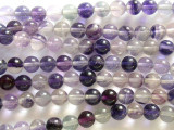 Purple Fluorite Round Beads 6mm (GS2378)