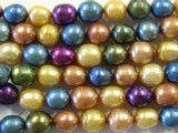 Assorted Irregular Oval Pearl Beads 9mm (PRL66)