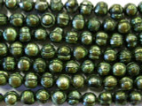 Evergreen Metallic Potato Pearl Beads 6-7mm (PRL28)