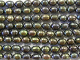 Jeweltone Metallic Irregular Oval Pearl Beads 7mm (PRL34)