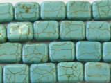 Turquoise Magnesite Rectangular Beads 18mm (GS2430)