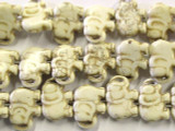 Natural Magnesite Elephant Beads 18mm (GS2460)