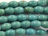 Turquoise Magnesite Barrel Beads 14mm (GS2466)