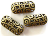 Brass Pewter Bead - Oval 21mm (PB263)