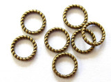 Brass Pewter Rope Ring 8mm (PB281)