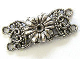 Pewter Flower Connector 35mm (PB296)