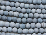 Denim Blue Irregular Round Glass Beads 6-7mm (JV667)