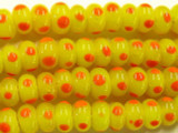 Yellow & Orange Lampwork Eye Glass Beads 8-9mm (JV683)