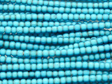Turquoise White Heart Trade Beads 4-5mm (AT54)