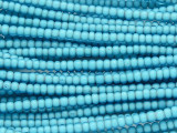 Light Blue White Heart Trade Beads 4mm (AT56)