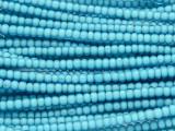 Light Blue White Heart Trade Beads 4mm (AT56)
