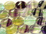 Rainbow Fluorite Oval Tabular Gemstone Beads 18mm (GS2491)