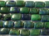 Azurite Rectangular Tabular Gemstone Beads 14mm (GS2509)