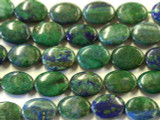 Azurite Oval Tabular Gemstone Beads 14mm (GS2510)