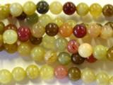 Flower Jade Round Gemstone Beads 8mm (GS2513)