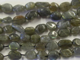 Labradorite Irregular Oval Tabular Gemstone Beads 8-12mm (GS2620)