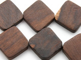 Diagonally Drilled Tabular Sono Wood Beads 23mm - Indonesia (WD205)
