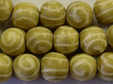 Natural Swirl Round Wood Beads 19mm - Indonesia (WD219)