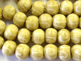 Natural Swirl Round Wood Beads 17mm - Indonesia (WD224)