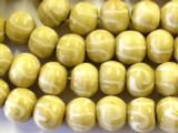 Natural Swirl Round Wood Beads 17mm (WD224)