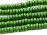 Green Rondelle Glass Beads 5-7mm (JV722)