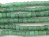 Green Graduated Glass Beads 4-6mm (JV742)
