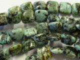 "African ""Turquoise"" Square Tabular Beads 10.5mm (GS2988)"