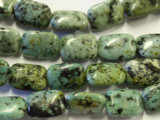 "African ""Turquoise"" Rectangular Tabular Gemstone Beads 18mm (GS2990)"