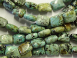 "African ""Turquoise"" Rectangular Tabular Beads 10mm (GS2986)"