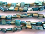 Dyed Turquoise Shell Beads 5-10mm (SH401)