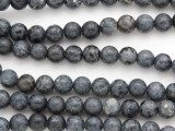 Natural Blue Coral Round Beads 8mm
