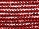 Red Bamboo Coral Round Beads 5-6mm