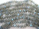 Labradorite Saucer Gemstone Beads 4-5mm (GS453)