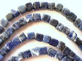 Sodalite Cube Gemstone Beads 8mm (GS148)