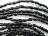 Black Onyx Rice Gemstone Beads 6mm (GS213)