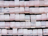 Rose Quartz Cube Gemstone Beads 5-6mm (GS166)