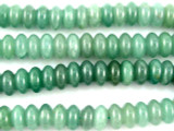 Green Aventurine Saucer Gemstone Beads 10mm (GS244)