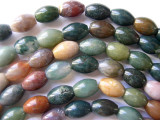 Fancy Jasper Oval Gemstone Beads 12mm (GS245)