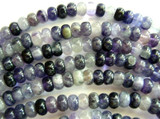 Purple Fluorite Rondelle Gemstone Beads 8mm (GS445)