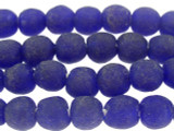 Cobalt Blue Recycled Glass Beads 9-10mm - Africa (RG14)