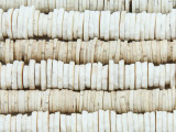 Old Ostrich Egg Shell Disc Beads 5-10mm - Africa (AT6997)