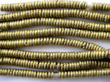 Small Old Brass Heishi Beads 3-4mm (ME28)